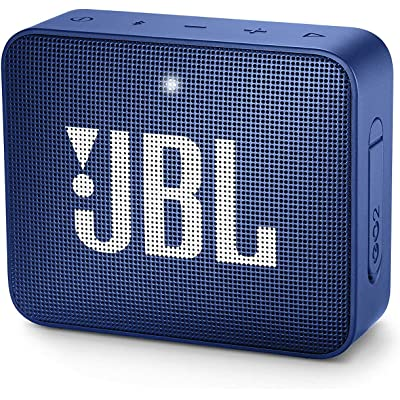 JBL GO 2 - Altavoz inalámbrico portátil con Bluetooth, resistente al agua (IPX7), hasta 5 h de reproducción con sonido de alta fidelidad, azul