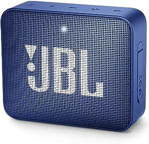 JBL GO 2 Portable Bluetooth Speaker, Blue, JBLGO2BLU
