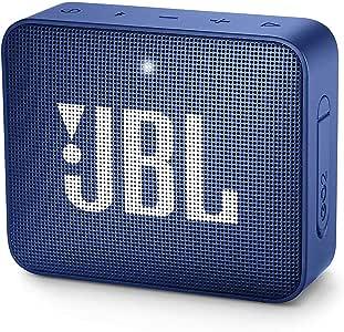 JBL GO 2, Waterdichte Draagbare Bluetooth-Luidspreker Met Handsfree Functie, Tot 5 Uur Muziekgenot, Blauw