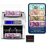 SToK ST-MC03 Compatible with Old & New INR- Rs.10, 20, 50,100,200, 500 & 2000 Notes Counting Machine with Fake Note Detector with color changing LCD Display - 1 Year Warranty