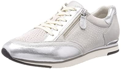 Gabor Shoes Gabor Casual, Derbys Femme, Blanc (Ice/Argento/Marmor), 35.5 EU