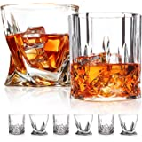 Old Fashioned Whiskey Glasses,6 Pack ,10 OZ Scotch GlassesTumblers for Drinking Bourbon/Cocktail glasses/Bar Whiskey Glasses/
