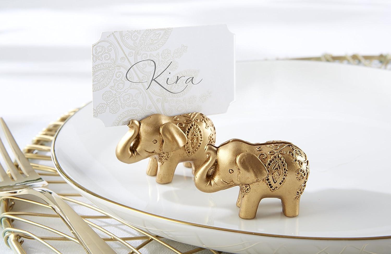 Amazon.com: Kate Aspen Lucky Elephant Bottle Opener, Antique Gold ...