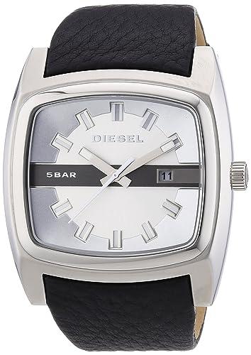Diesel DZ1555 - Reloj analógico de Cuarzo para Hombre con Correa de Piel, Color Negro: Amazon.es: Relojes