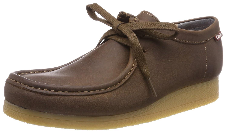 Clarks Stinson Lo, Zapatos de Cordones Derby para Hombre 46 EU Marrón (Beeswax Leather)