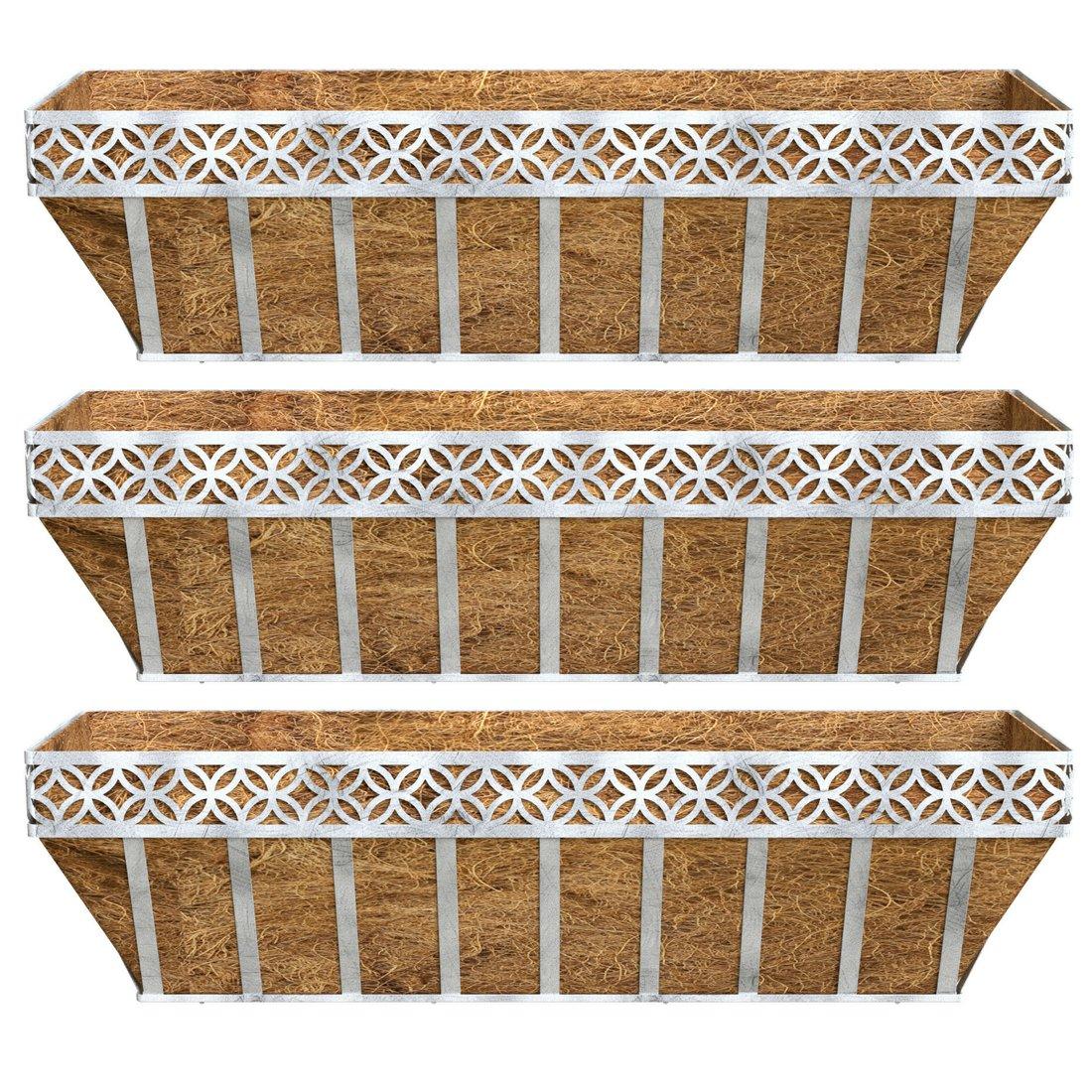Better Homes and Gardens Patio Lattice Coco Window Box Planter (3)