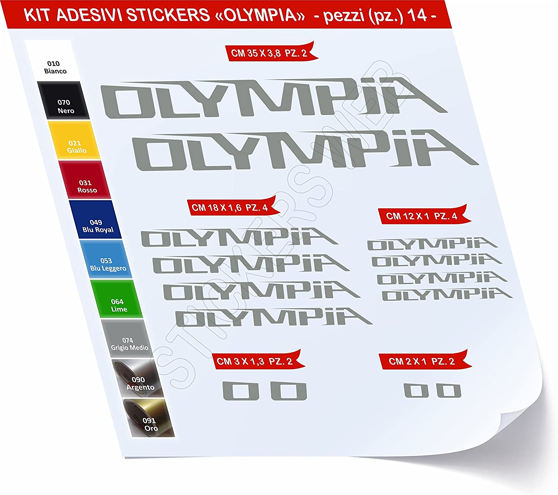 /Choisir imm/édiatement Colore Bike Cycle pegatina Cod.0435 Pimastickerslab Stickers v/élo Olympia Kit Stickers 14/pi/èces/