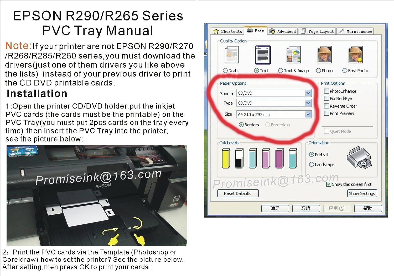 CEyE para Epson R260 R280 R380 Artisan 50 T50 y T60 P50 R270 R290 ...