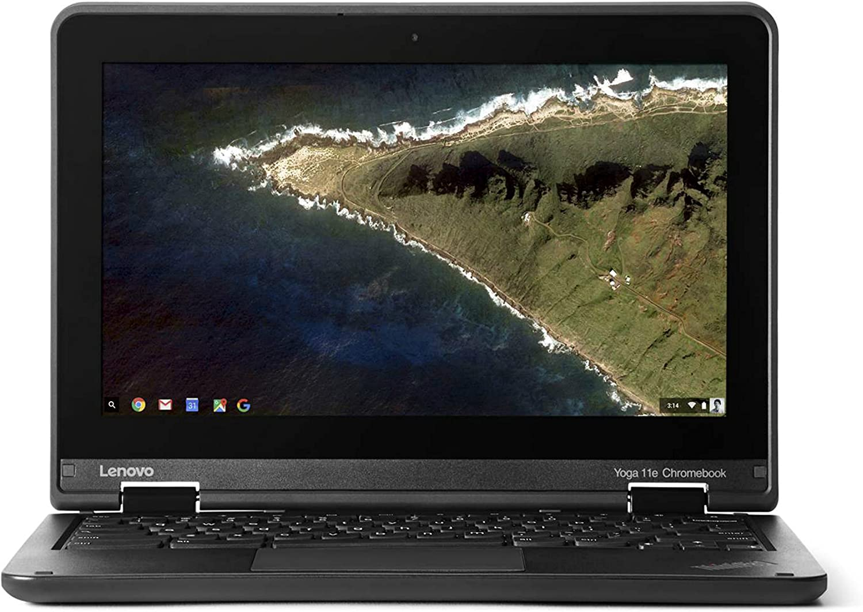 2017 Lenovo Thinkpad Yoga 11.6 Inch Convertible HD IPS Multitouch Chromebook, Intel Quad Core Processor 1.6 GHz, 4GB RAM, 16GB SSD, HDMI, Bluetooth, 802.11ac, USB 3.0, HD Webcam, Chrome OS