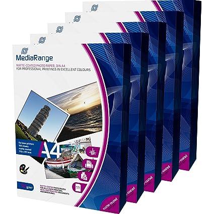 MediaRange mrink106 DIN A4 Papel fotográfico para impresora láser ...