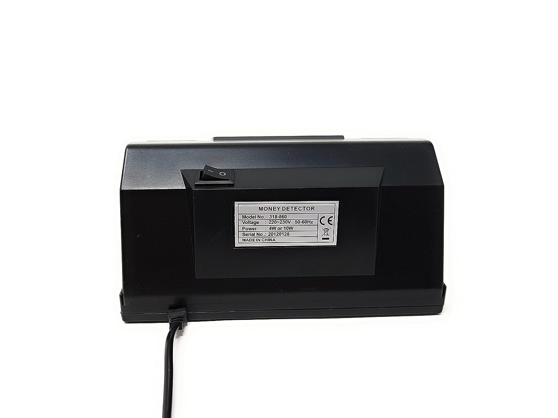 Detector Todo Tipo Billetes Falsos y Tarjetas de Crédito UV Luz Ultravioleta 318: Amazon.es: Oficina y papelería