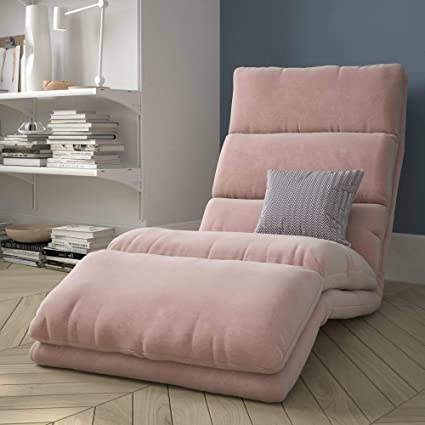 Incroyable Amazon.com : Ilunar Home Pink Chaise Lounge Chair For Girls With Memory  Foam Padded Comfort : Garden U0026 Outdoor