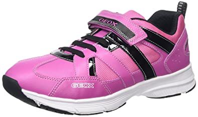 e04c9cc1f8 Geox TOPFLY Girl 10 Sneaker, Fuchsia/Black, 38 M EU Big Kid (