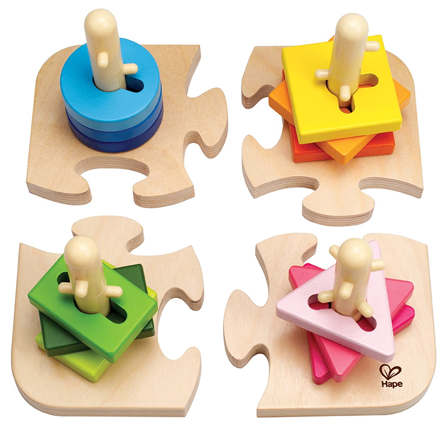 Amazon Hape Creative Toddler Wooden Peg Puzzle Toys & Games