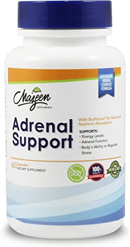Adrenal Support Supplements – Special Formula for Adrenal Health, Cortisol Support, Adrenal Fatigue, Stress Anxiety Relief, Energy with Ashwagandha, Rhodiola Rosea, Holy Basil by Mazeen Supplements