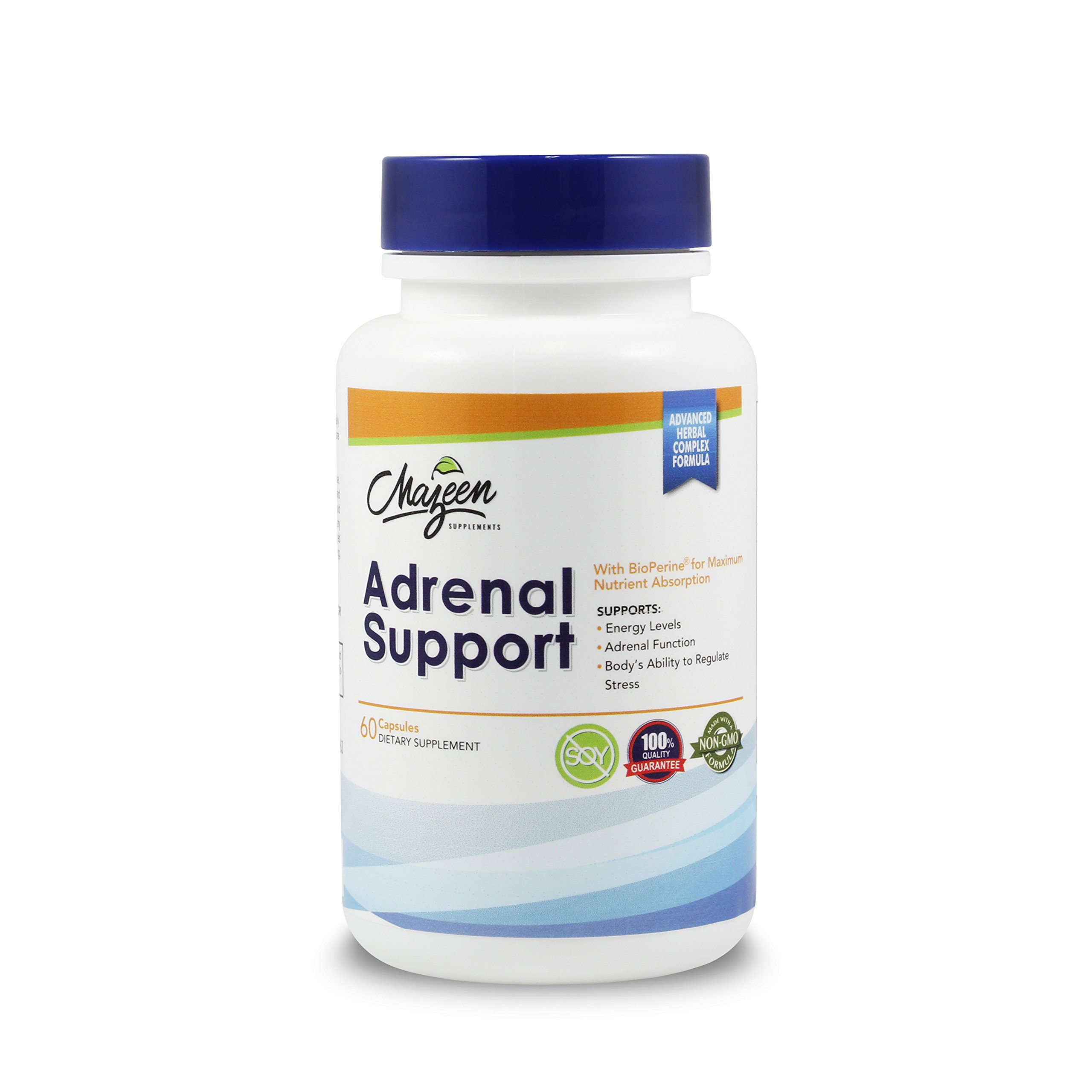 Adrenal Support Supplements - Special Formula for Adrenal Health, Cortisol Support, Adrenal Fatigue, Stress Anxiety Relief, Energy with Ashwagandha, Rhodiola Rosea, Holy Basil by Mazeen Supplements