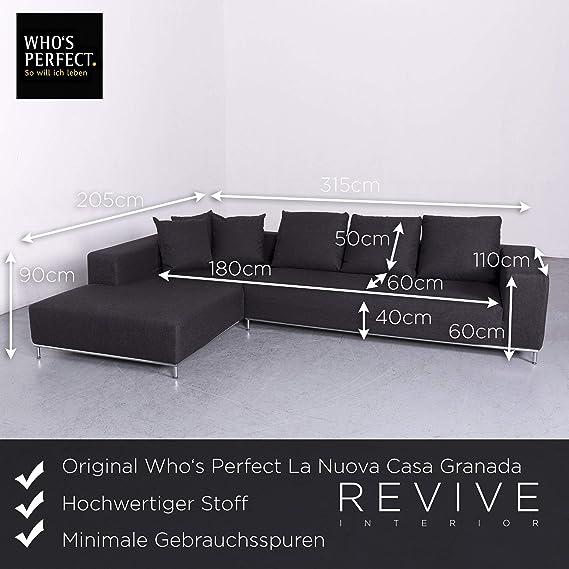 Whos Nuova Casa Granada Designer Stoff Sofa Anthrazit ...