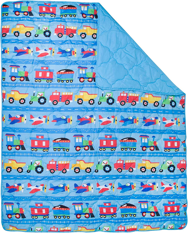 Wildkin 88079 4Piece Toddler Bed-in-A-Bag Fitted Sheet Flat Sheet Comforter 100/% Microfiber Bedding Set /& Pillowcase