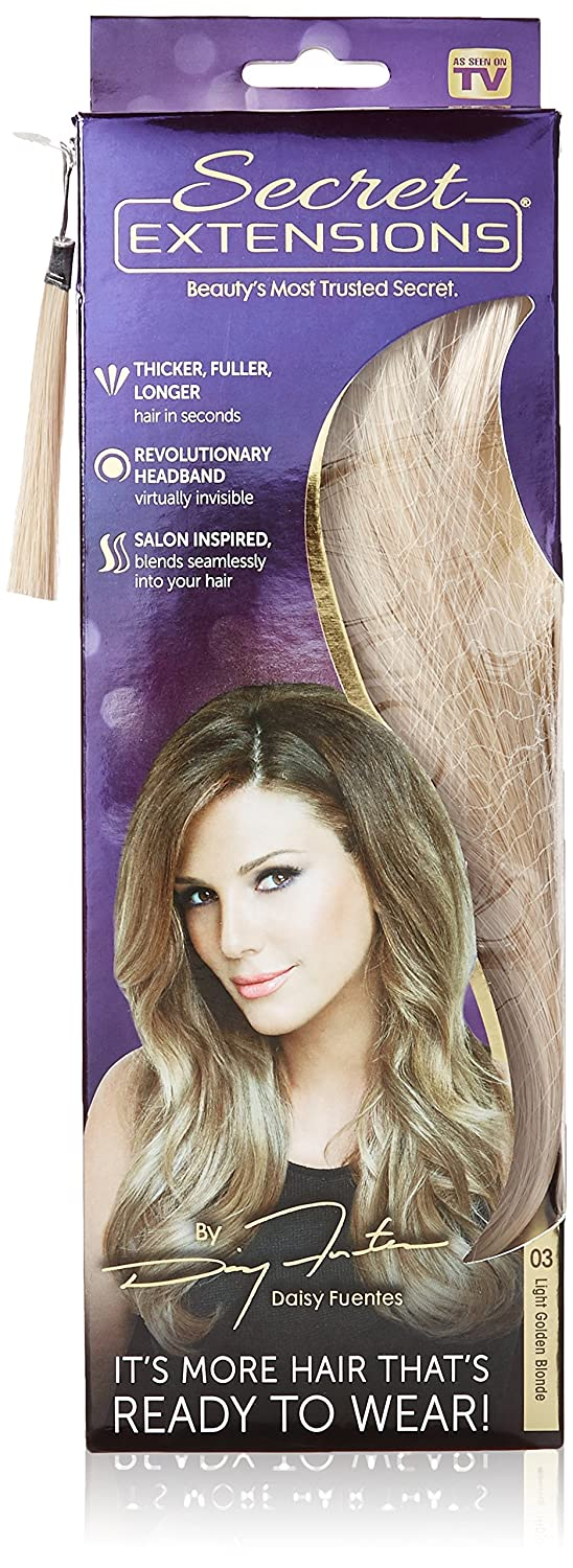 Secret Extensions Hair Extensions By Daisy Fuentes Light Golden