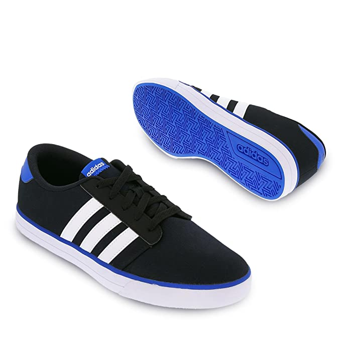 Amazon.com | adidas - VS Skate - AQ1484 - Color: White-Black-Blue - Size: 9.0 | Fashion Sneakers