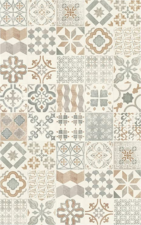 Amazon.de: Decoweb Teppich Vinyl Lino PVC, Carreaux de ...