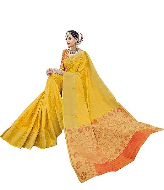 493a65f40c60f EthnicJunction Booti Zari Butta Banarasi Silk Saree With Zari Thread Work  Unstitched Blouse Piece(EJ1178-7976