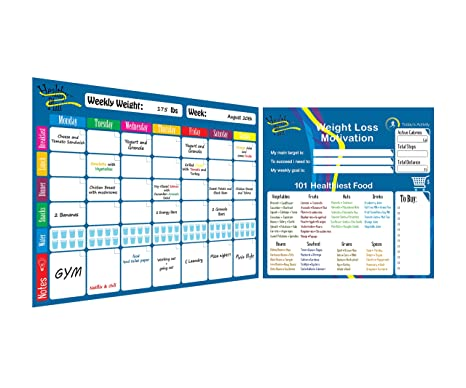 Weekly Meal Planner And Tracker Dry Erase Board Refrigerator