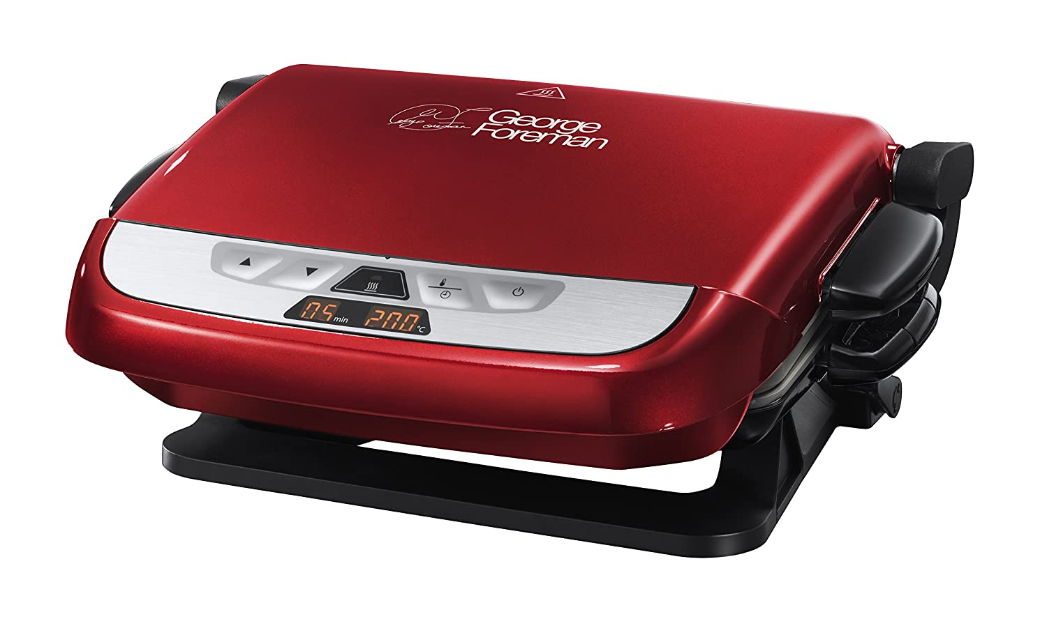George Foreman Evolve Family 5-Portion Grill with Omelette Plates - Red:  Amazon.co.uk: Kitchen & Home