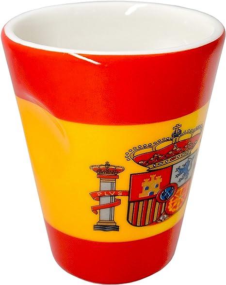Taza de porcelana para expreso diseño bandera España: Amazon.es: Hogar