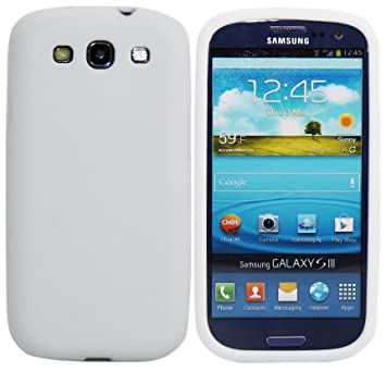 Luxburg® In-Colour Design funda protectora para Samsung Galaxy S3 GT-I9300 en color blanco, funda carcasa de silicona