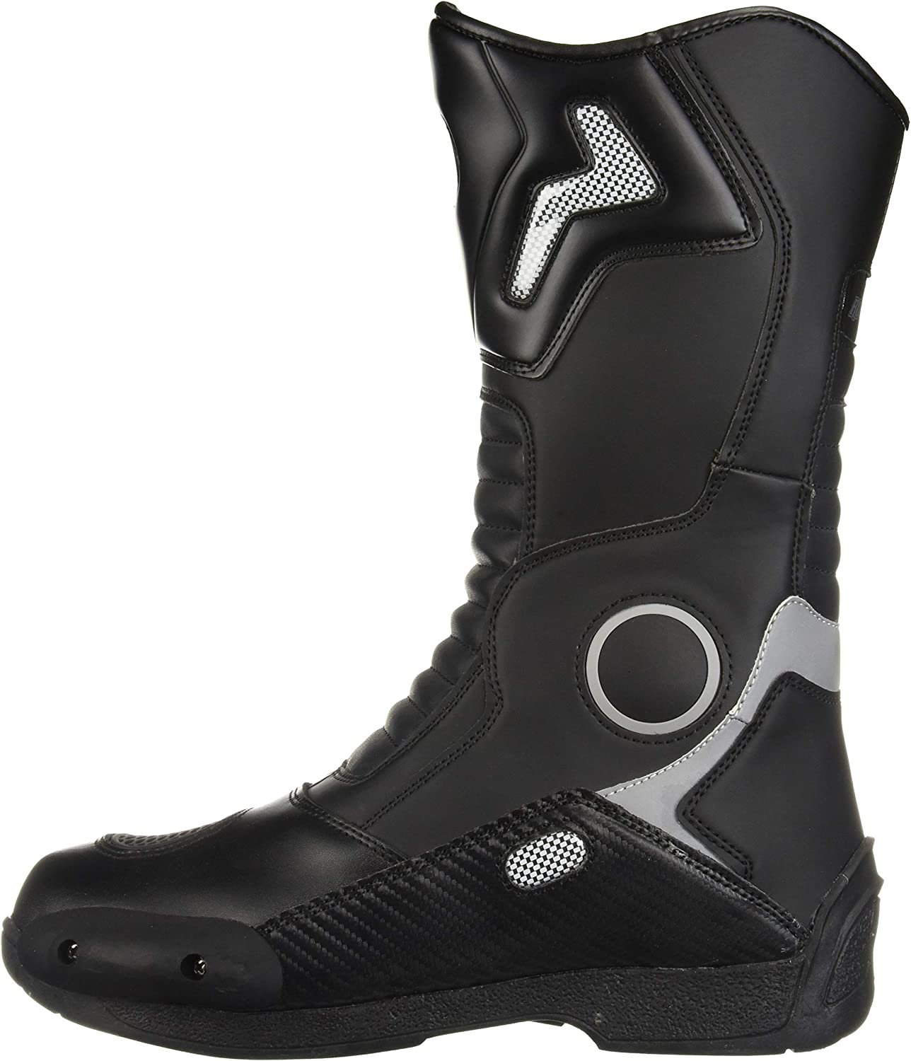 Joe Rocket Mens Water Resistant Touring Boot White, US Size 8