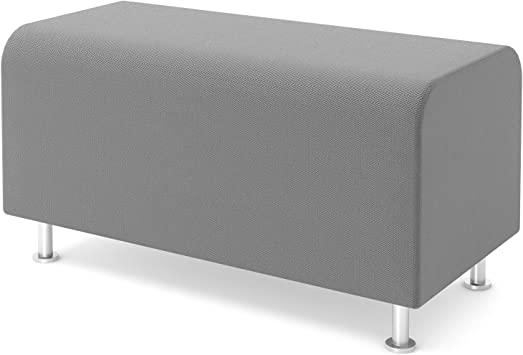 Amazon Com Steelcase Turnstone Alight Bench Ottoman Nickel Fabric Furniture Decor