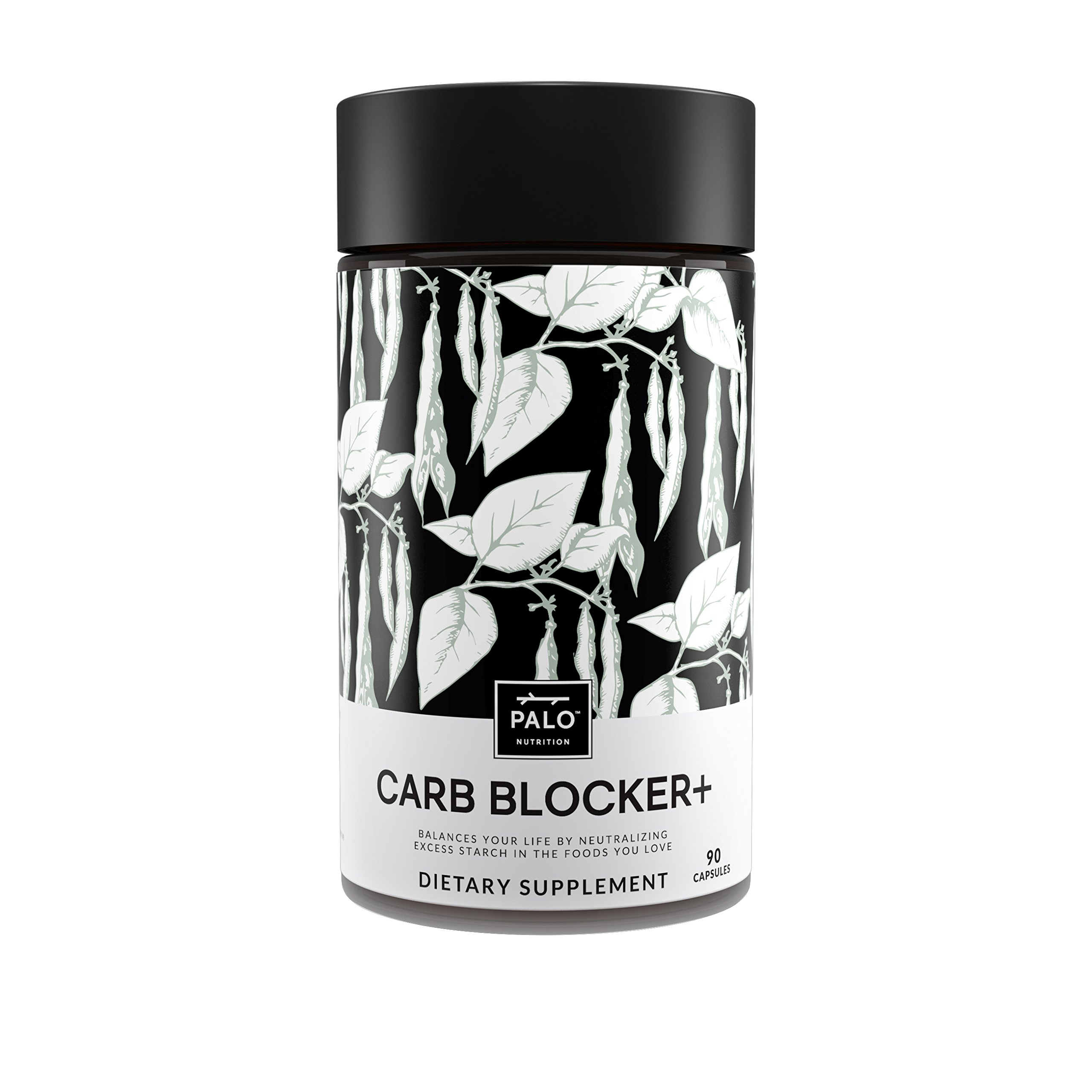 Carb Blocker+ | (90 each)-Innovative formula composed of White Kidney Bean Extract, White Mulberry and Chromium| Support Weight Loss, Boost Metabolism and help control blood sugar | By PALO Nutrition