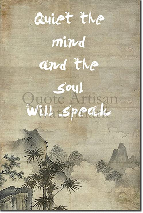 "ZEN QUOTE POSTER 8 /""Quiet the mind.../"" PHOTO PRINT BUDDHISM MOTIVATION"