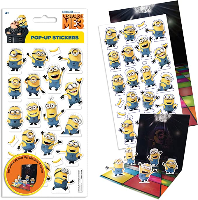 Paper Projects 01.70.15.034 Universal Despicable Me 3 Party Pack of Stickers