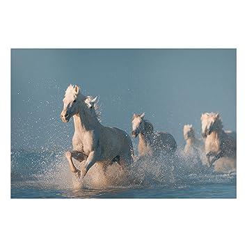 Bilderwelten Pizarra magnética - White Horses - Formato ...