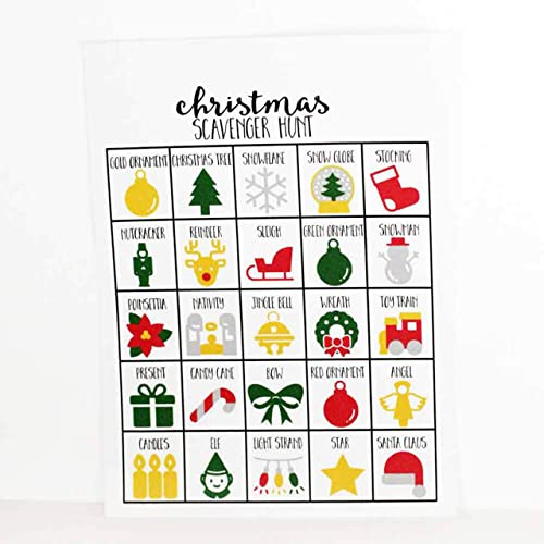 Christmas Scavenger Hunt.Amazon Com Christmas Scavenger Hunt Game For Kids