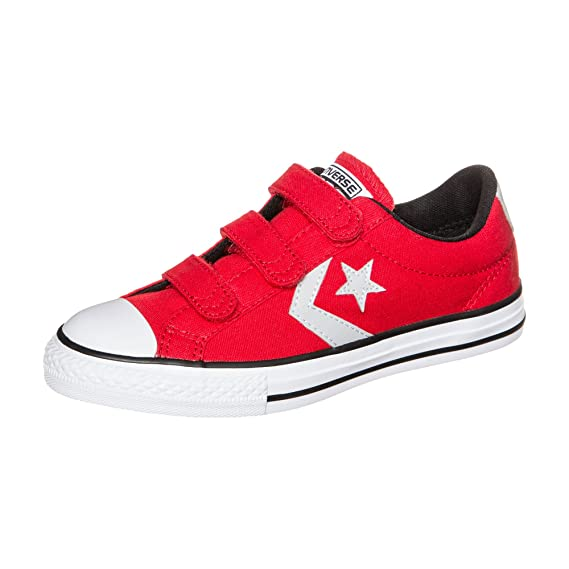 2b58cc5cb94d Converse Star Player EV 3V Ox Casino Red (Junior 4)  Amazon.co.uk  Shoes    Bags