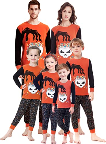 shelry Matching Family Pajamas Halloween Boys and Girls PJs 100% Cotton Clothes Kids Pyjamas Children for Women Small