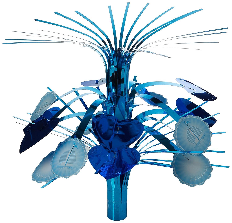 Amscan–Centro de mini Cascade de Botitas de bautizo piezas, 20cm, color azul 997308