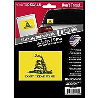 "Dont Tread On Me Flag Vinyl - Car Decal - Large 4.5"" x 6.5"" Gadsden Flag Vinyl Sticker Bumper Stickers - Don't Tread On…"