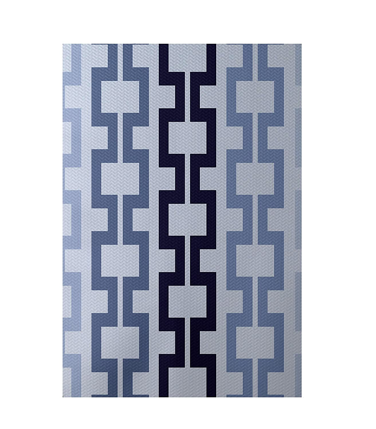 Bewitching E by design RGN123BL31BL14-23 Cuff-Links Geometric Print Indoor//Outdoor Rug