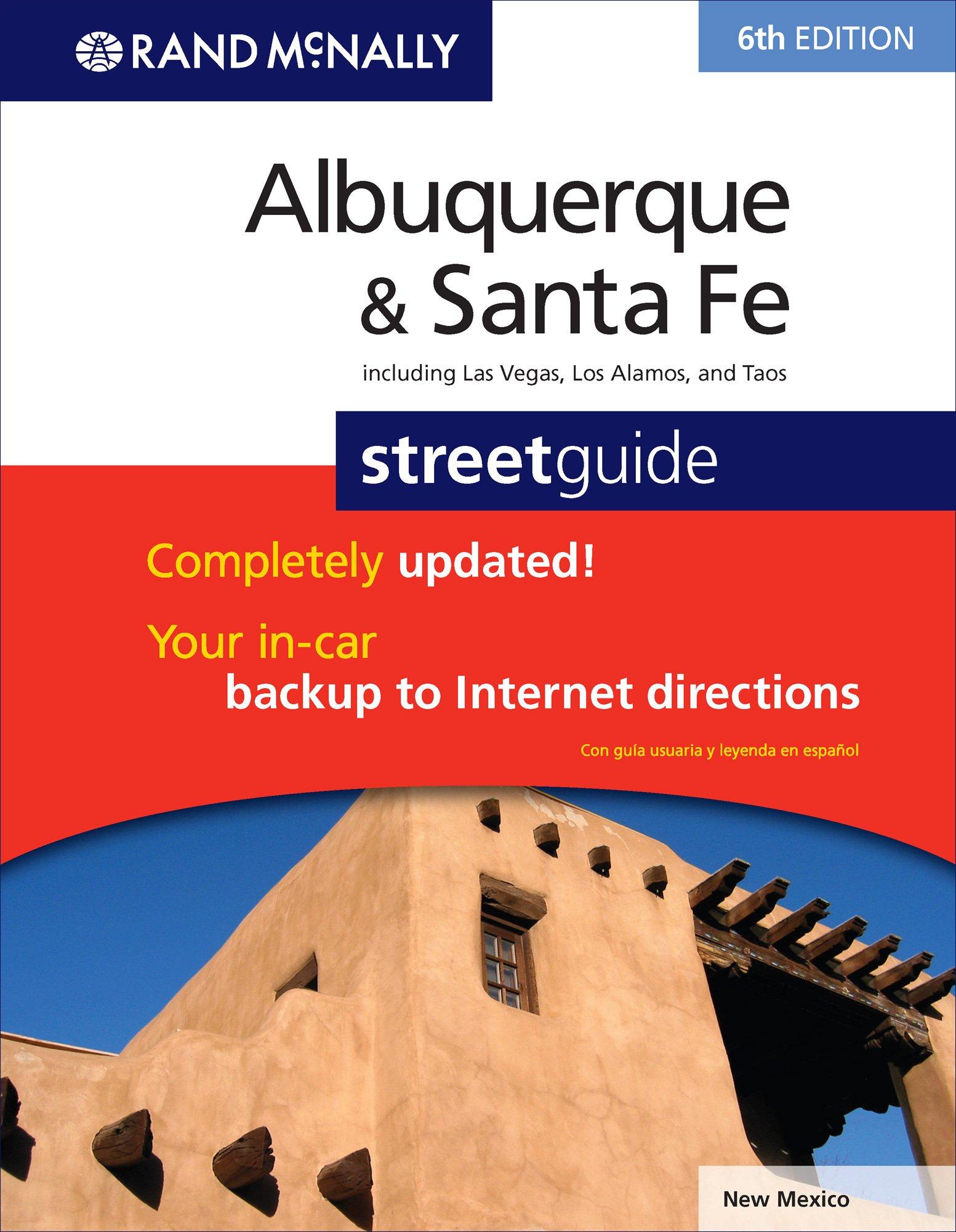 Albuquerque To Santa Fe >> Rand Mcnally Albuquerque Santa Fe Street Guide Rand Mcnally