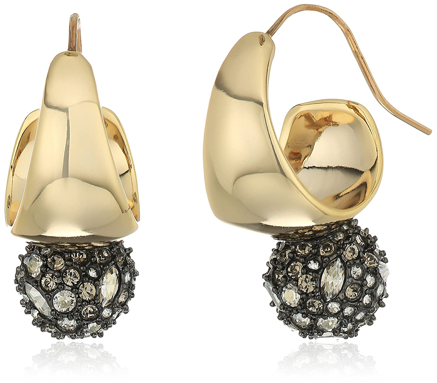 Alexis Bittar Hoop with Pave Ball Drop Earrings