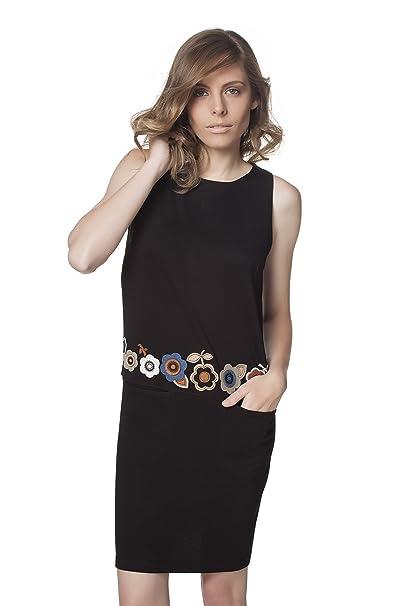 Mamatayoe Augur, Vestido Casual para Mujer, Negro, M: Amazon.es ...