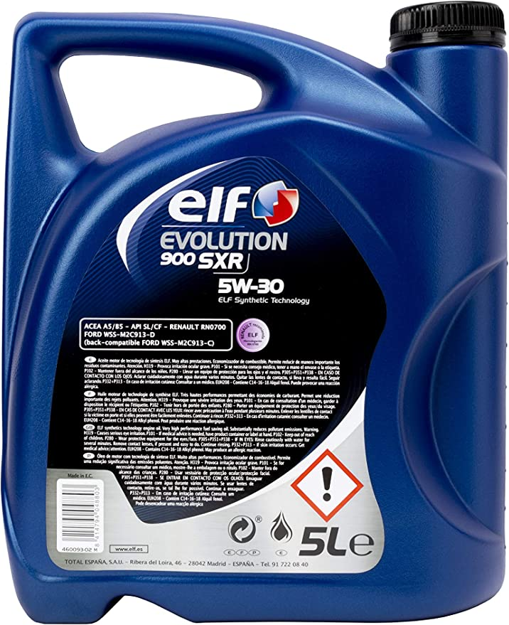 Elf 194888 Evolution 900 SXR 5W30 Lubricante: Amazon.es: Coche y moto