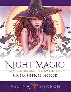 night magic gothic and halloween coloring book fantasy coloring by selina volume - Gothic Coloring Book