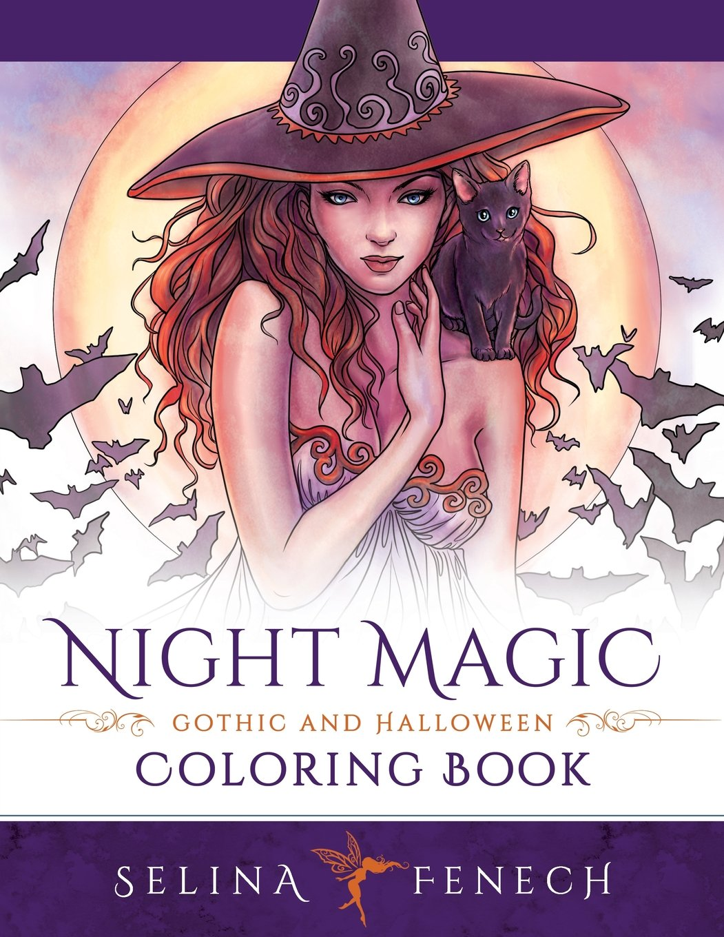 amazoncom night magic gothic and halloween coloring book fantasy coloring by selina volume 10 9780994585233 selina fenech books - Gothic Coloring Book