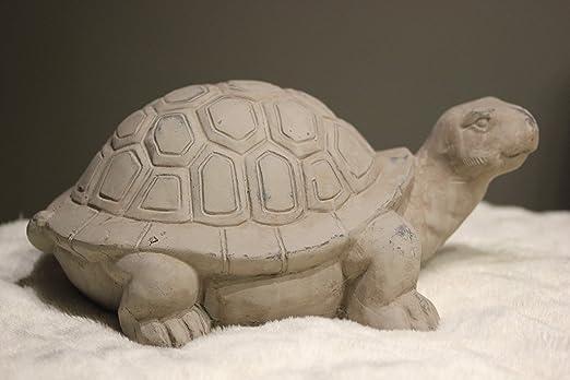 VOSS Tortuga, Gris, de Terracota, decoración de jardín, Tortuga, 30,5 x 21,5 x 14 cm: Amazon.es: Jardín