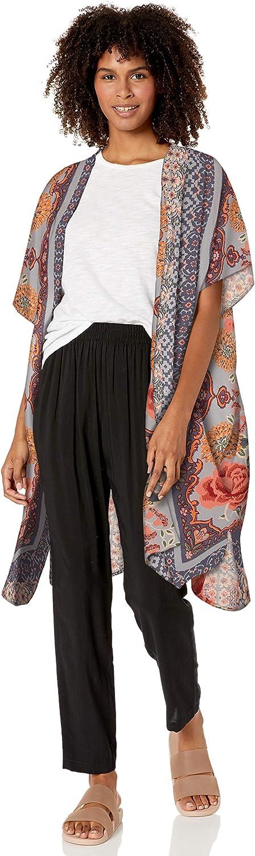 Angie Womens Boho Long Duster Kimono Cardigan